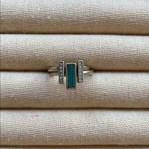 Chloe + Isabel Malachite + Pavé Stackable Rings